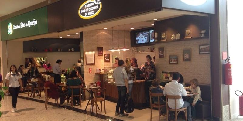 Casa do Pão de Queijo e Melhor Bolo de Chocolate do Mundo - Shopping Piracicaba.